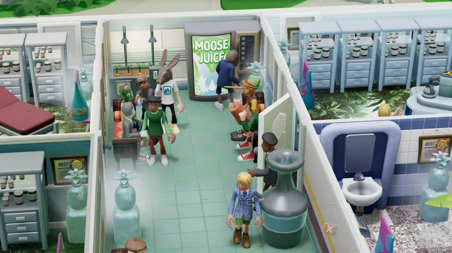 Two Point Hospital Off the Grid DLC Review (Deutsch-German, many subtitles) Rabbit illness